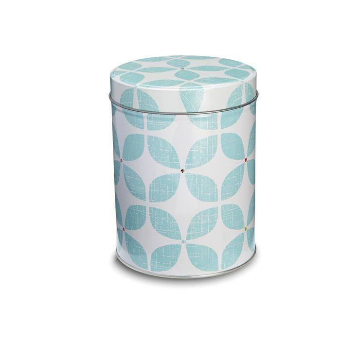 Barattoli di latta per tè, caffè e zucchero, motivo retro Blu: Amazon.it: Casa e cucina