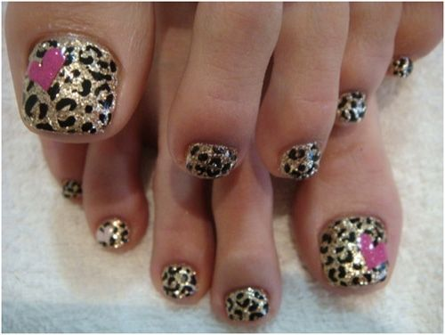 Leopard Toe Nail Design, not sure howd that work for my unusually small feet