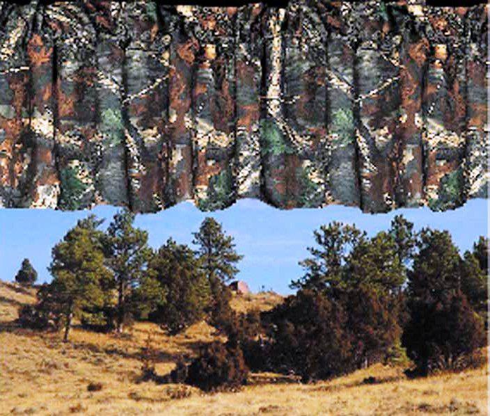 """(HXCM1001-VL) """"Oak Camo"""" Western Valance"""