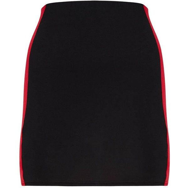 Cobalt Jersey Contrast Panel Mini Skirt ($12) ❤ liked on Polyvore featuring skirts, mini skirts, jersey skirt, short skirt, jersey mini skirt and short mini skirts