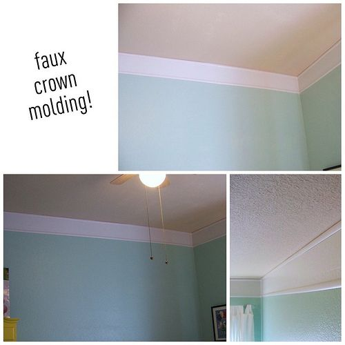 Faux Crown Molding-cheap!-Picnik collage by hi sugarplum!, via Flickr