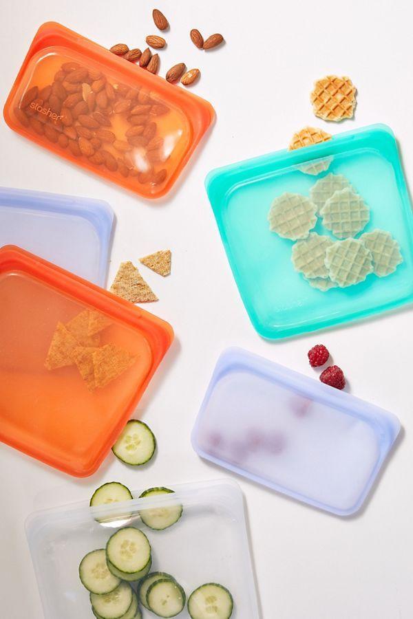Stasher Medium Reusable Silicone Sandwich Bag In 2020 Stasher Reusable Sandwich Bags Reusable Snack Bag