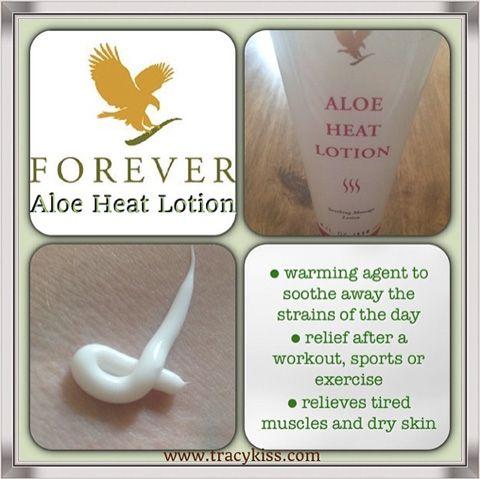 Forever Living Aloe Heat Lotion. To order visit our website www.kimandterry.myforever.biz