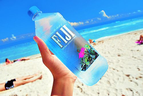 Fiji water on a clear sky blue day <3 #summer #tumblr