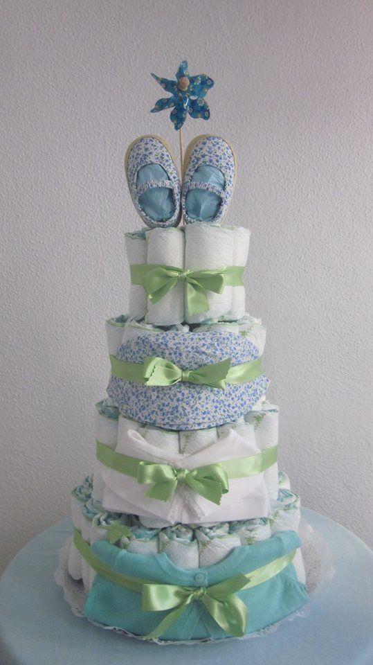 "Tarta "" Brisa de primavera"" Rumbo al norte, tarta de bienvenida para una nena gallega."