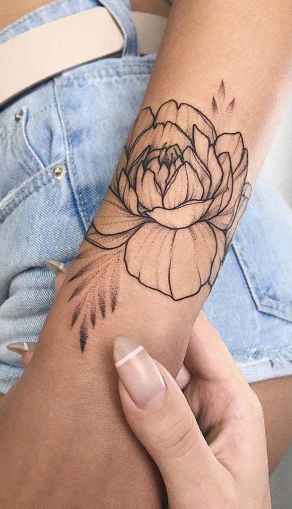 Einfache geometrische Rose Arm Tattoo Ideen für Frauen – www.MyBodiArt.com, #ei…