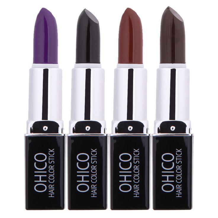 4 Farbe Temporäre Haarfärbemittel Lippenstift Kreide-zeichenstifte Farbe einmalige Haar Farbe Unisex DIY Styling