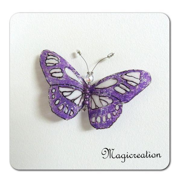 MAGNET PAPILLON MINERVE - Boutique www.magicreation.fr