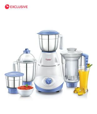 Juicer Mixer Grinder Prestige IRIS 750 Watt 4 Jars Juicer Mixer Grinder Snapdeal offers Prestige 750 Watt Juicer Mixer Grinder with 4 Jars.What a luxury to be able to churn out a veritable feast with delicacies along with nutritious fruit juices that have come from the kitchen to your dining table? Indeed it is! And … Continue reading Prestige IRIS 750 Watt 4 Jars Juicer Mixer Grinder