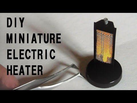 LED ハロゲンヒーターの作り方☆How to make a miniature electric heater - YouTube