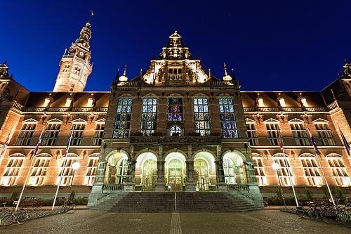 Blue hour Academiegebouw Groningen