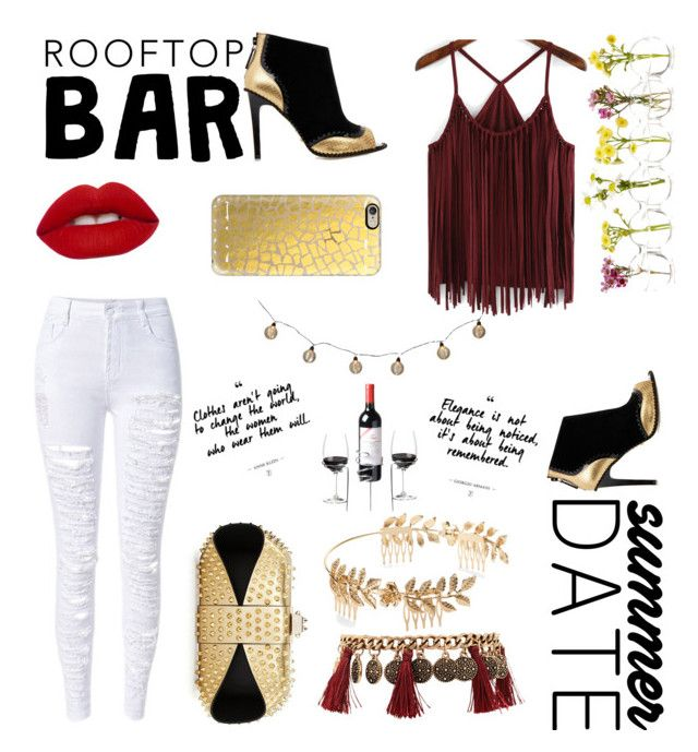 """""""rooftop bar summer date"""" by amaliyah-nur-irana on Polyvore featuring Kat Maconie, Forever 21, Casetify, Christian Louboutin, Lime Crime, summerdate and rooftopbar"""