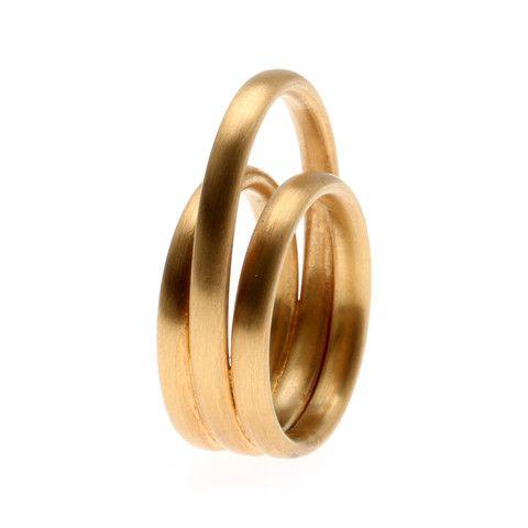 Made by Ella, Oval, ring, forgyldt sølv