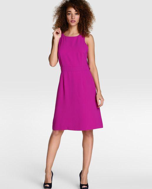 Vestido de fiesta de mujer Tintoretto en rosa fucsia