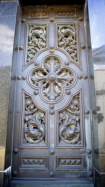 White scrollwork door in Argentina