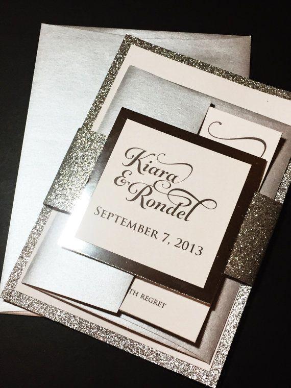 Best 25 Glitter wedding invitations ideas on Pinterest Bling