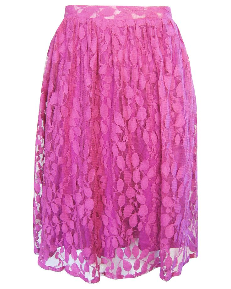 Fairtrade Midi Lace Skirt - Loving this pink!