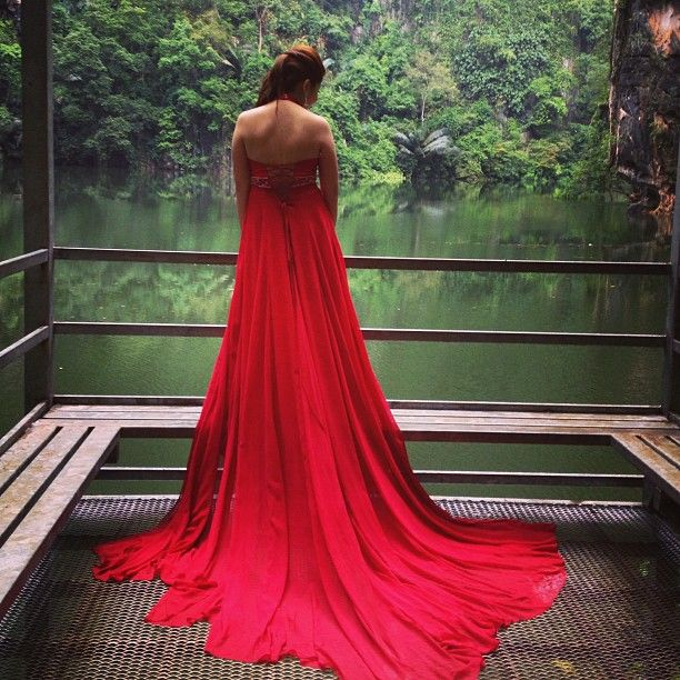Number 6 red dress gala