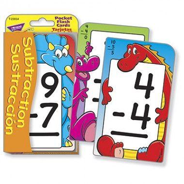 Subtraction/ Sustraccion Pocket  Flash Cards