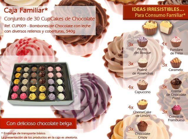 ¡Cupcakes con varios sabores que son deliciosas y mirada no se resisten a ellos!