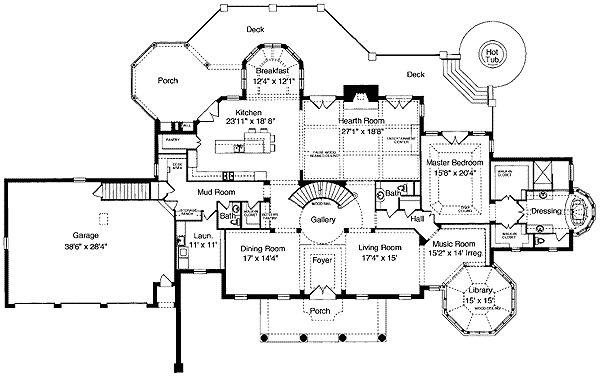 Plan 39042st stately mansion with an elegant air house for Stately house plans