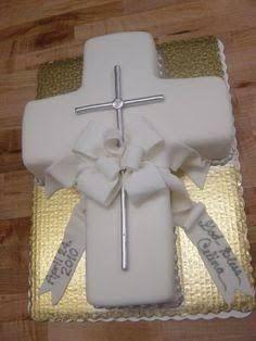 Resultado de imagen para primero comunion pastel niña cruz