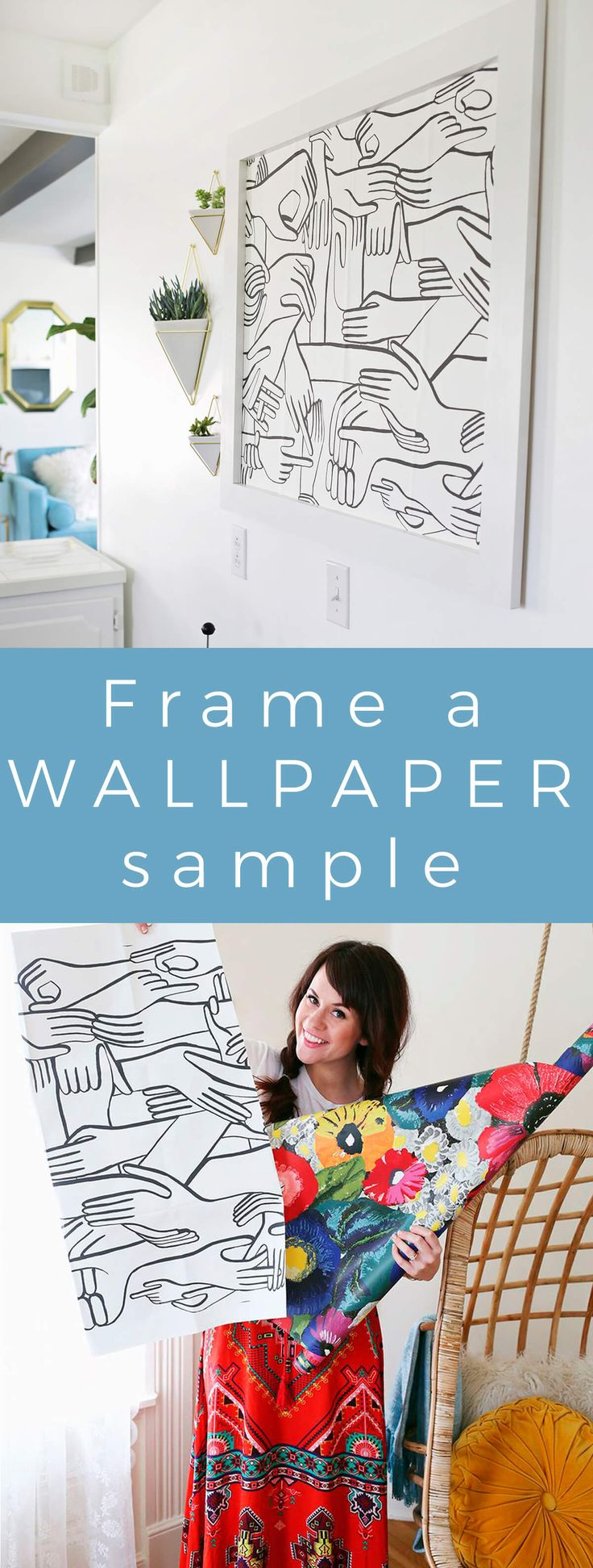 Try This: Frame a wallpaper sample