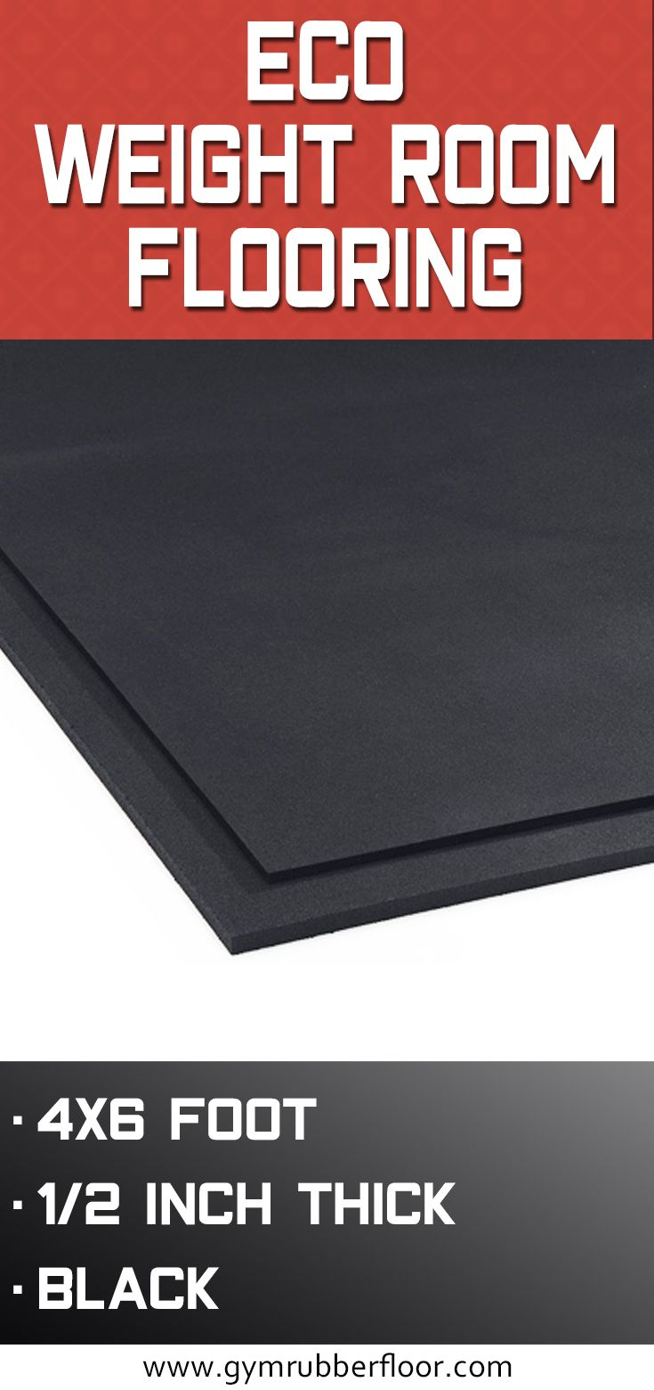 1 2 Inch Rubber Mat Weight Room Flooring Home Gym Flooring Room Flooring