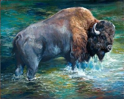 Might be a little obsessed with buffalo art.