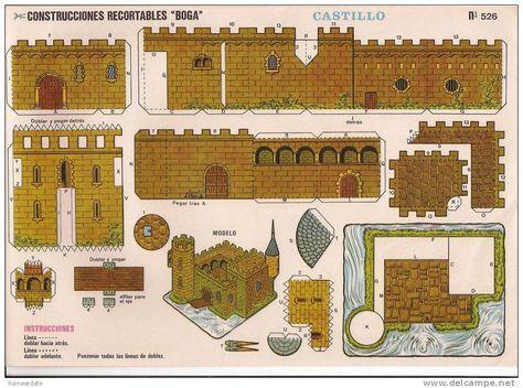 Картинки по запросу castillos recortables para imprimir