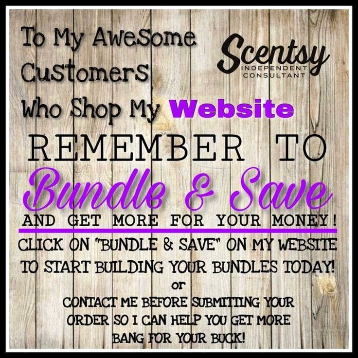 Bundle and Save your Scentsy is the best way to Stock up
