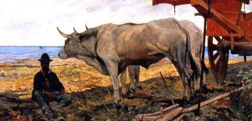 """Giovanni Fattori """"Il riposo"""" 1887 Olio su tela, Pinacoteca di Brera, Milano"""