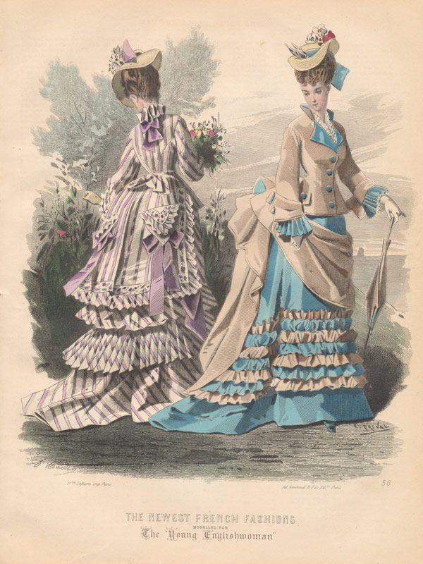 Victorian fashion plates ca 1870