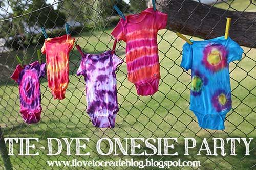 Throw a Tie Dye Onesie Party at your next Baby Shower - I Love To Create Blog
