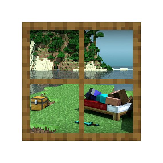 Minecraft Day Off Window Vinyl Wall Decal By WilsonGraphics, $24.00 Part 61