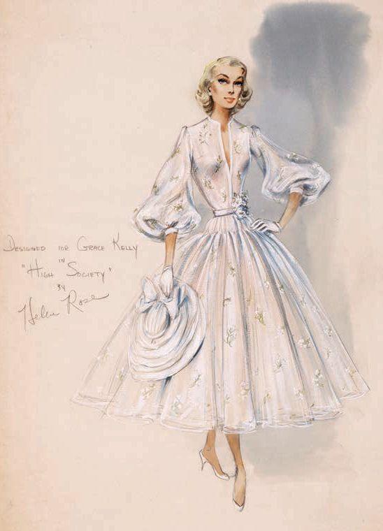 Grace Kelly | High Society | Helen Rose | Costume Illustration