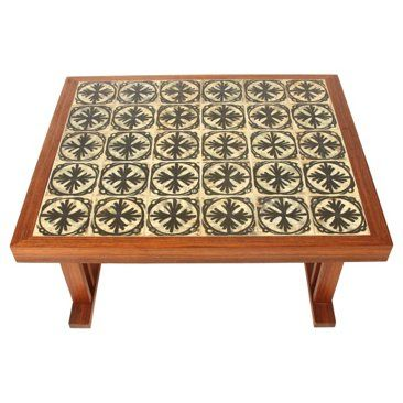 Check out this item at One Kings Lane! Midcentury Tile-Top Center Table