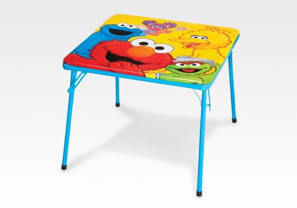Sesame Street Metal Folding Table by Delta Children #SesameStreet #furniture #kids