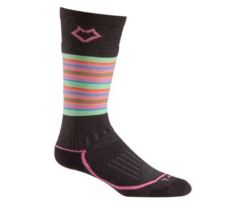 Fox River Stratton Socks - Women's FoxRiver. $11.99. URfit System: memory-knit construction, contoured rib top, spandex compression zones; 36% nylon, 31% Merino wool, 31% recycled polyester, 2% spandex; Medium weight; Full cushion throughout: absorbs shocks and insulates; Mesh panels: vent moisture while trapping heat inside