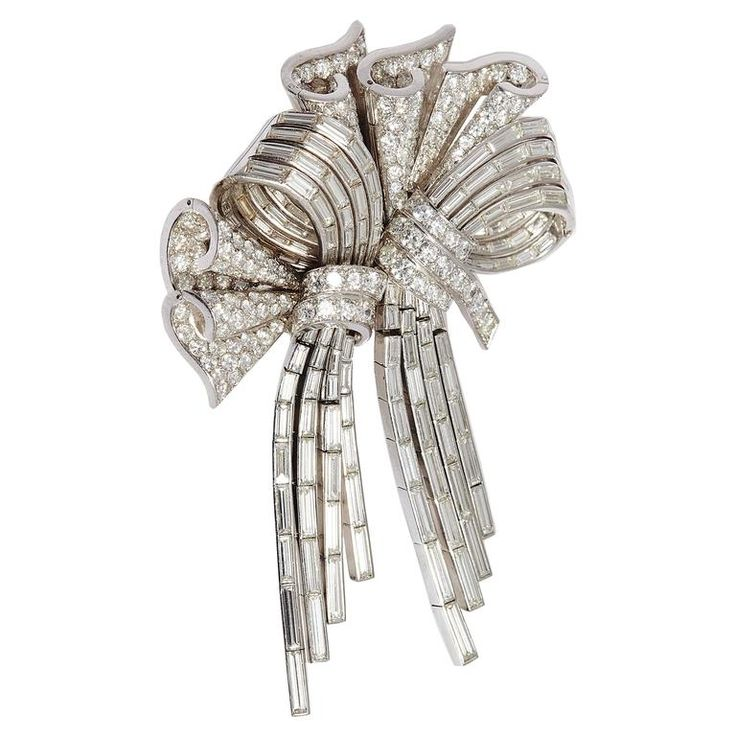 Important French Bow Brooch  | From a unique collection of vintage brooches at https://www.1stdibs.com/jewelry/brooches/brooches/