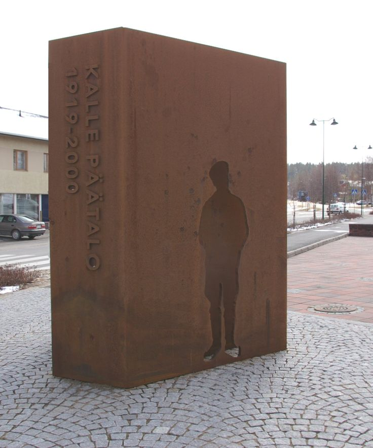 The memory of Kalle Päätalo, Taivalkoski, Lapland, Finland