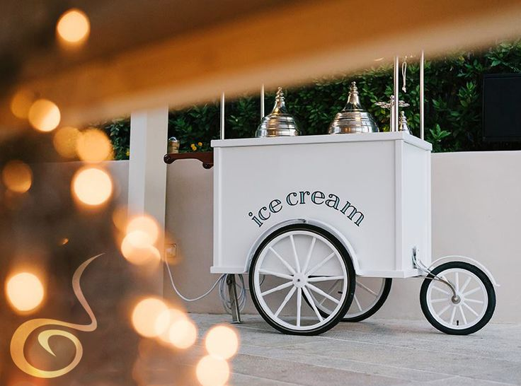 Our beautiful ice cream cart! #ARIAFineCatering