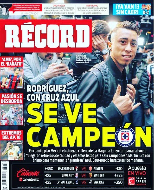 Martín Rodríguez asegura que @Cruz_Azul_FC se reforzó bien y confía en salir campeón 👊 #hoyentuRÉCORD #portada