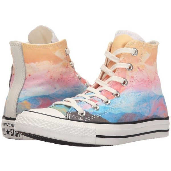 Converse Chuck Taylor All Star Sunset Hi Women's Lace up casual Shoes ($60) ❤ liked on Polyvore featuring shoes, sneakers, lace up sneakers, rubber shoes, pastel sneakers, star sneakers and converse trainers