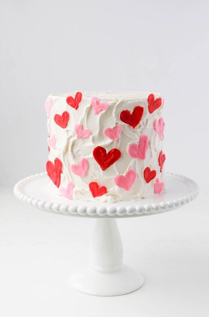 Sweet & Simple Valentine's Day Cake