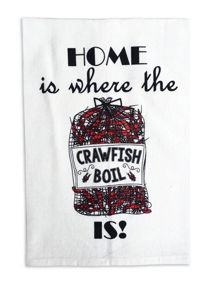 Home Is Where The Crawfish Boil Is Tea Towel - Fleurty Girl