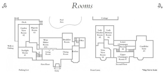 Candlelight inn floor plan romantic bed and breakfasts - Bed and breakfast design floor plans ...