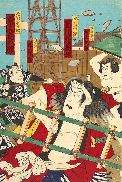 め組の喧嘩(力士・九竜山たち)