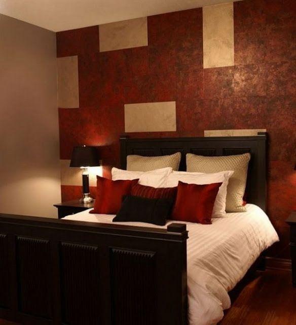 Bedroom Art Deco Red Accent Wall Bedroom Bedroom Bed Ideas Dark Carpet Bedroom Ideas: 54 Best Red Bedroom Images On Pinterest