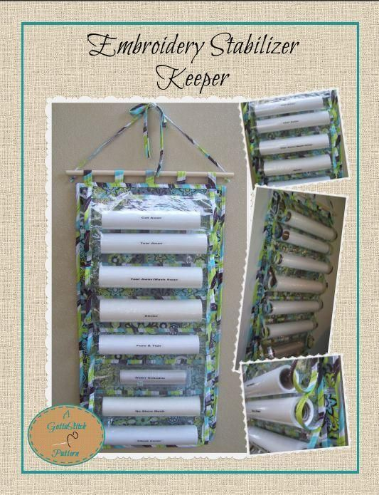 Looking for your next project? You're going to love Embroidery Stabilizer Keeper by designer janell9849.